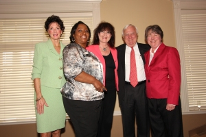 Pam Sibcy, Sheila Butler (standing in for Barry Bates), Susan Rose, Rob Sibcy and Vicki Wnuk