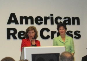 Patricia Smitson, CEO of the Cincinnati Chapter of the Red Cross with Pamela D. Sibcy