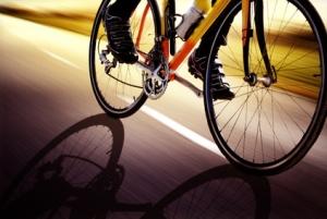 BicycleWheelsOnRoad