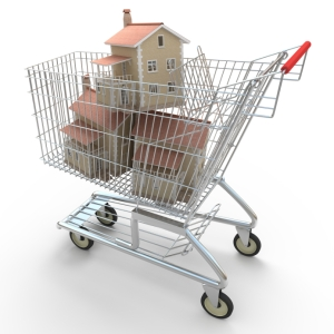 Houses-in-shopping-cart