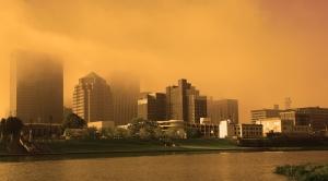 DowntownDayton_GoldFog