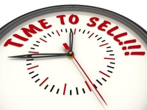 Time to sell!!!. Часы с надписью