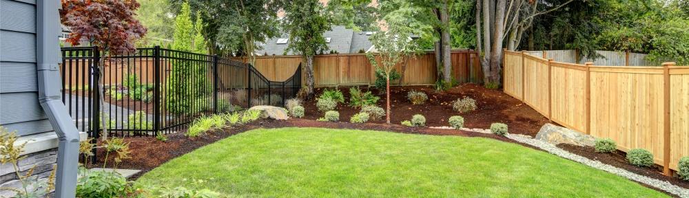 Large yard versus small yard