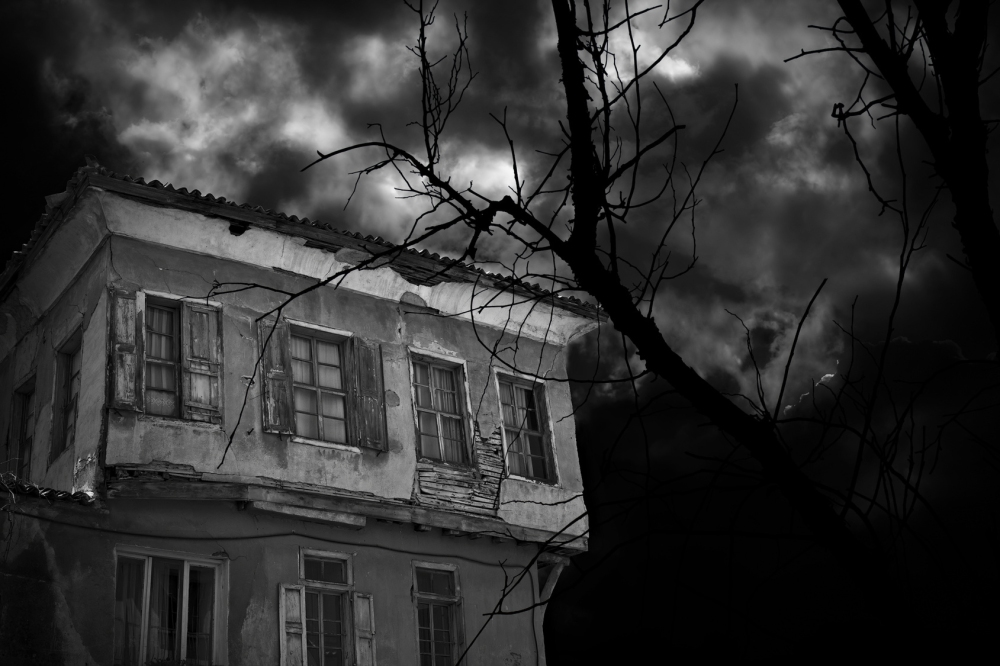 Spooky old derelict house
