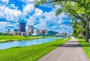 Dayton, Ohio and the Great Miami River (P)