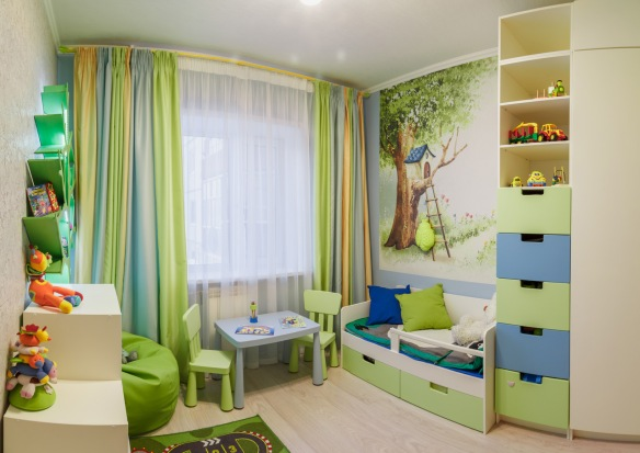 interior of kids playing room