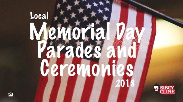 Memorial Day 2018 Local Parades