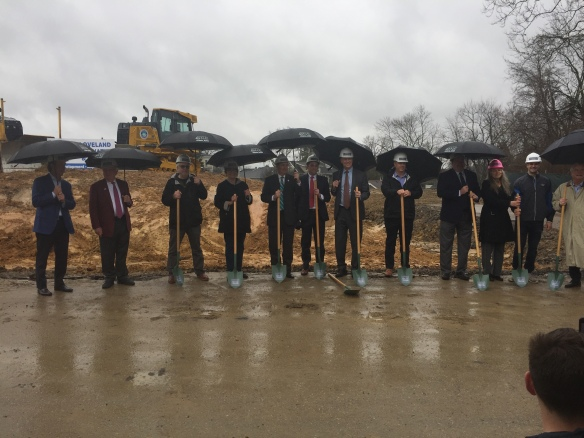 Breaking ground at One Highland in Fort Thomas Kentucky